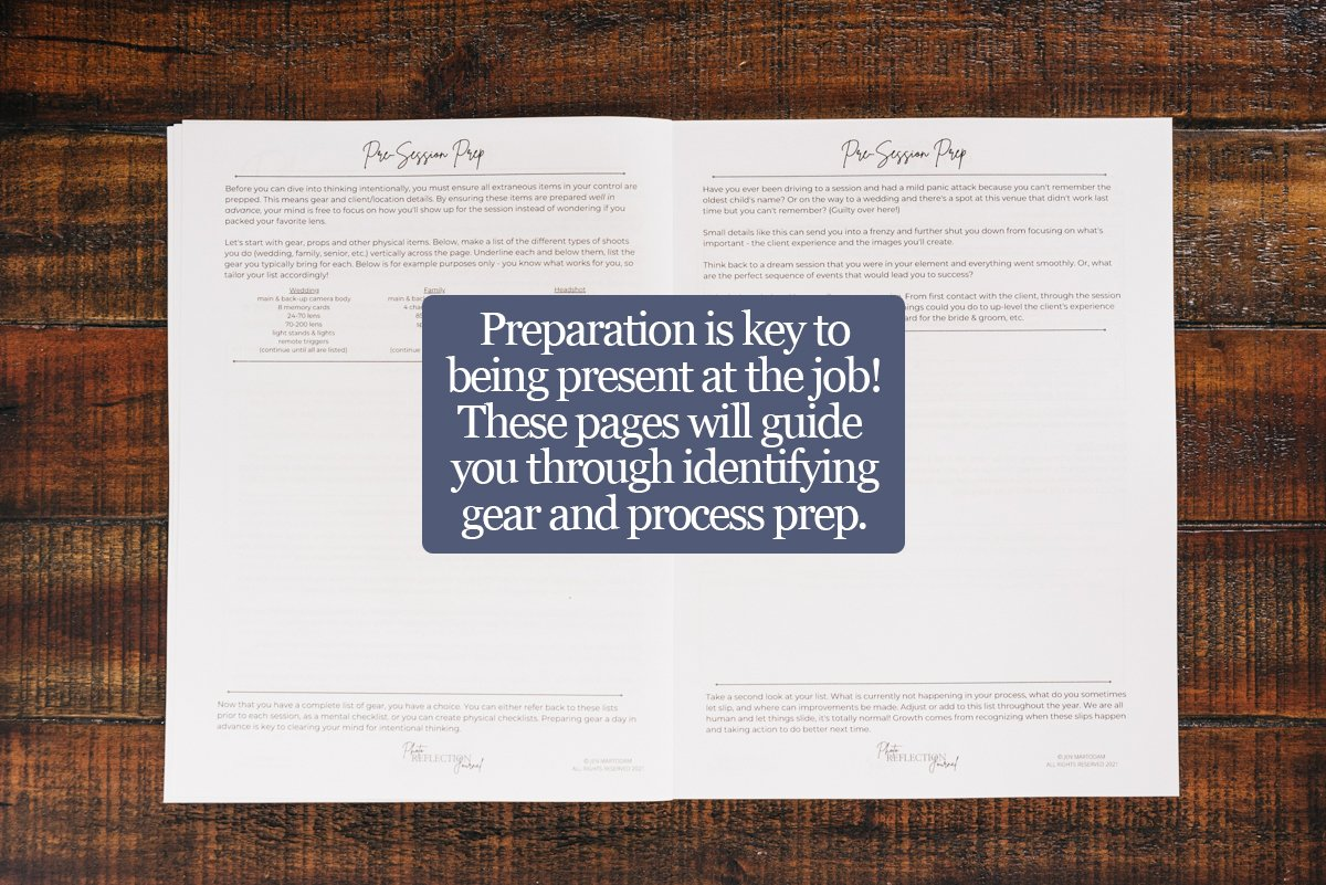 Photo Reflection Journal-PreSession Prep